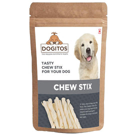 Dogitos White Twisted Chew Sticks For Dogs 850 gm - pet-club-india