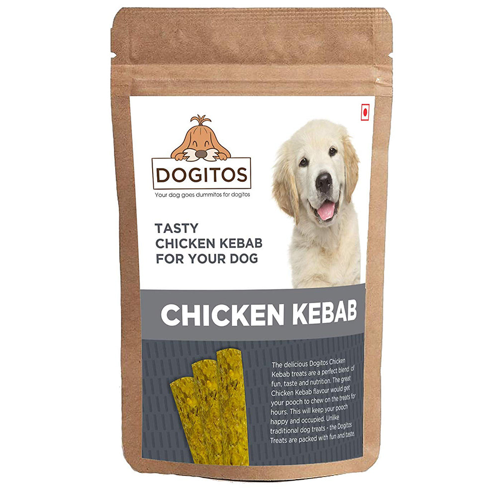 Dogitos Delicious Natural rawhide twists Kebab For Dogs 850gm - pet-club-india