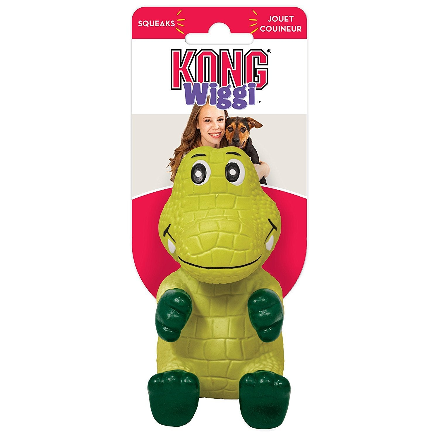 Kong Wiggi Alligator Squeaky Dog Toy - pet-club-india