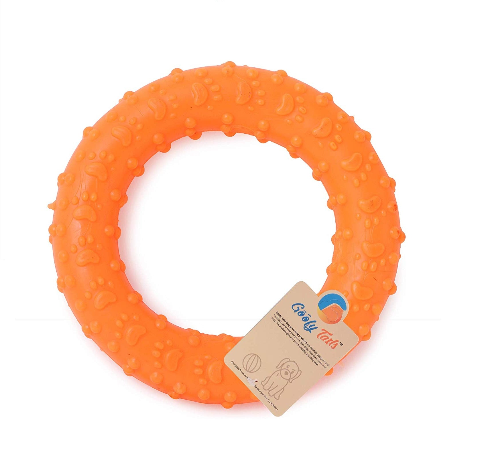 Goofy Tails Rubber Ring Chew Dog Toy