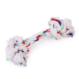 Goofy Tails Dog Chew Toy Combo (LED Ball + Cotton Bone) - pet-club-india