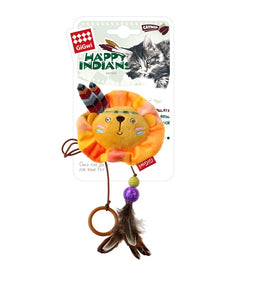 Gigwi Happy Indian Finger Ring Lion Catnip Cat Toy - pet-club-india