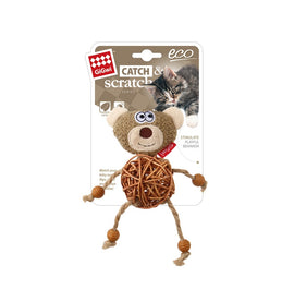 Gigwi Eco Line Bear Catch & Scratch Catnip Cat Toy - pet-club-india