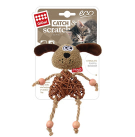 Gigwi Eco Line Dog Catch & Scratch Catnip Cat Toy - pet-club-india