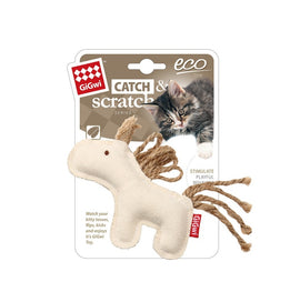 Gigwi Eco Line Horse Catch & Scratch Catnip Cat Toy - pet-club-india