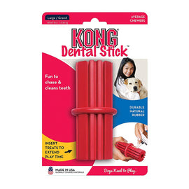 Kong Dental Stick Dog Toy,Red - pet-club-india