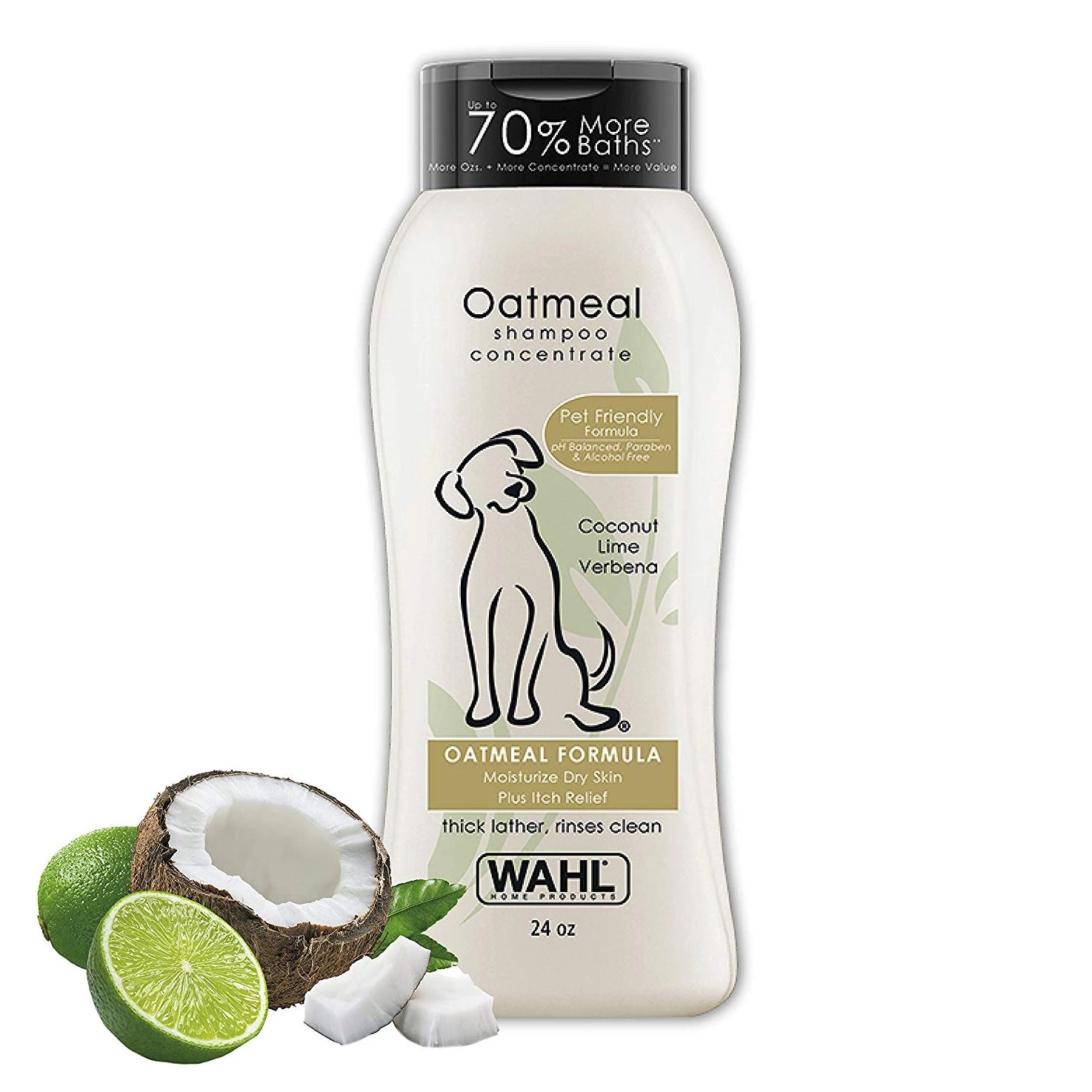 Wahl Oatmeal Coconut Lime Verbena Dog Shampoo 709 ml - pet-club-india