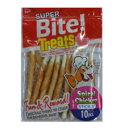 Super Bite Spiral Chicken Stick 5 inch Dog Treat 10 pcs - pet-club-india