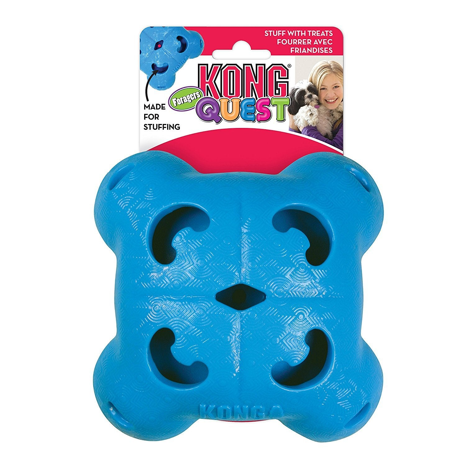 Kong Quest Foragers Quad Interactive Dog Toy - pet-club-india
