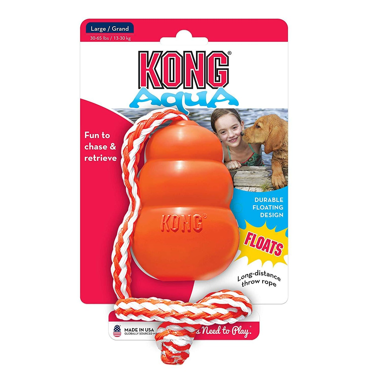 Kong Aqua Floating Fetch Dog Toy - pet-club-india