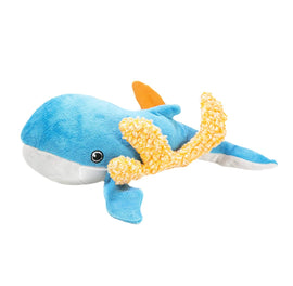 Kong Riptides Whale Squeaky Large Dog Toy - pet-club-india