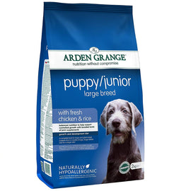 Arden Grange Puppy Junior Large Breed Chicken and Rice Dog Food - pet-club-india