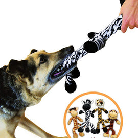 KONG Bendeez Giraffe Squeaky Dog Toy - pet-club-india