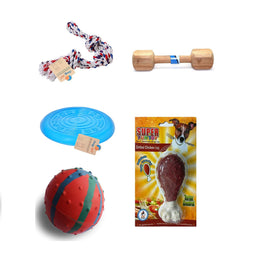 Goofy Tails Natural Rubber Chew,Teething Toys,Interactive,Dog Chew Combo for Giant Dog - pet-club-india