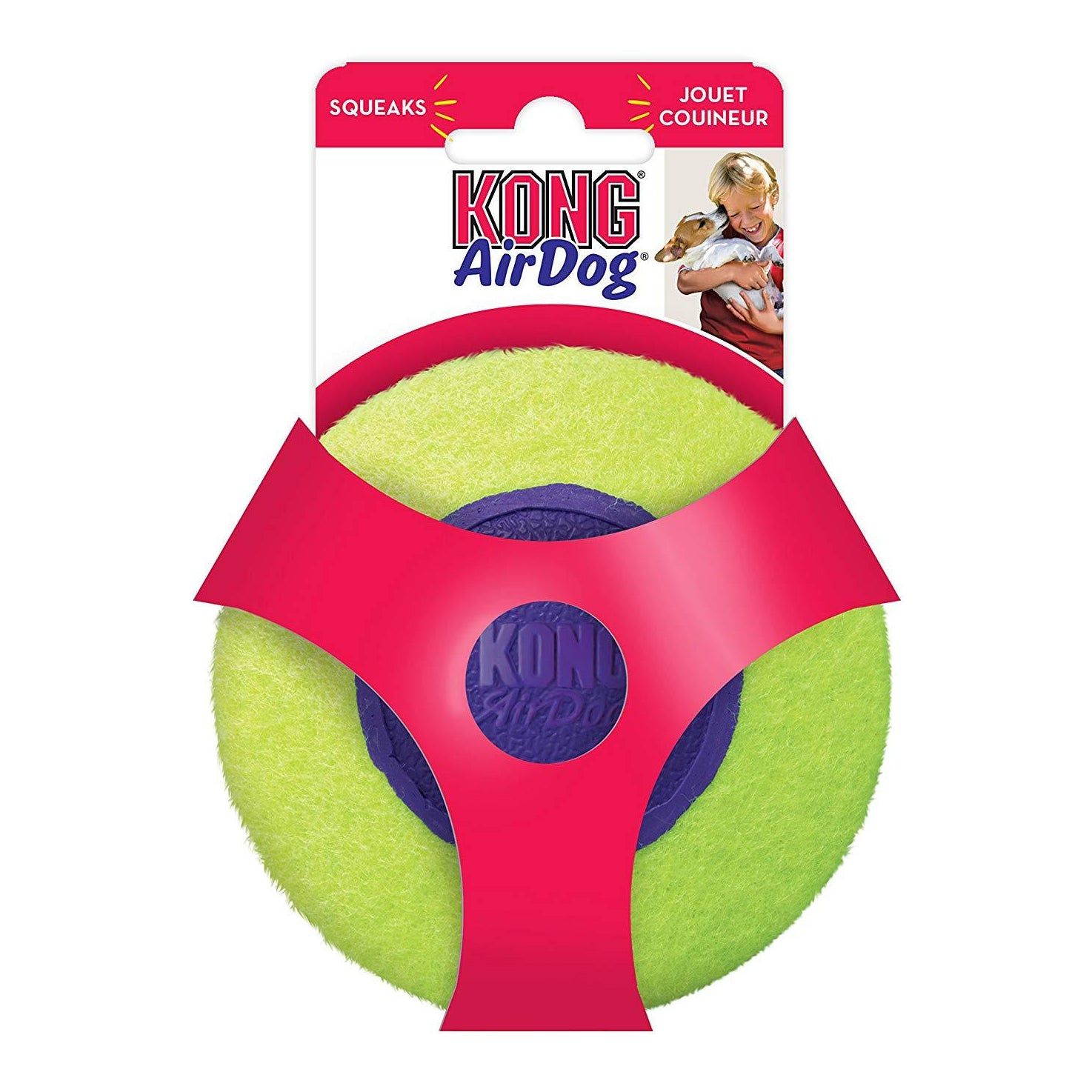 KONG Air Squeaker Disc Medium Dog Fetch Toy - pet-club-india