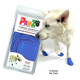 Pawz Waterproof Dog Rubber Boots (Set of 12) - pet-club-india