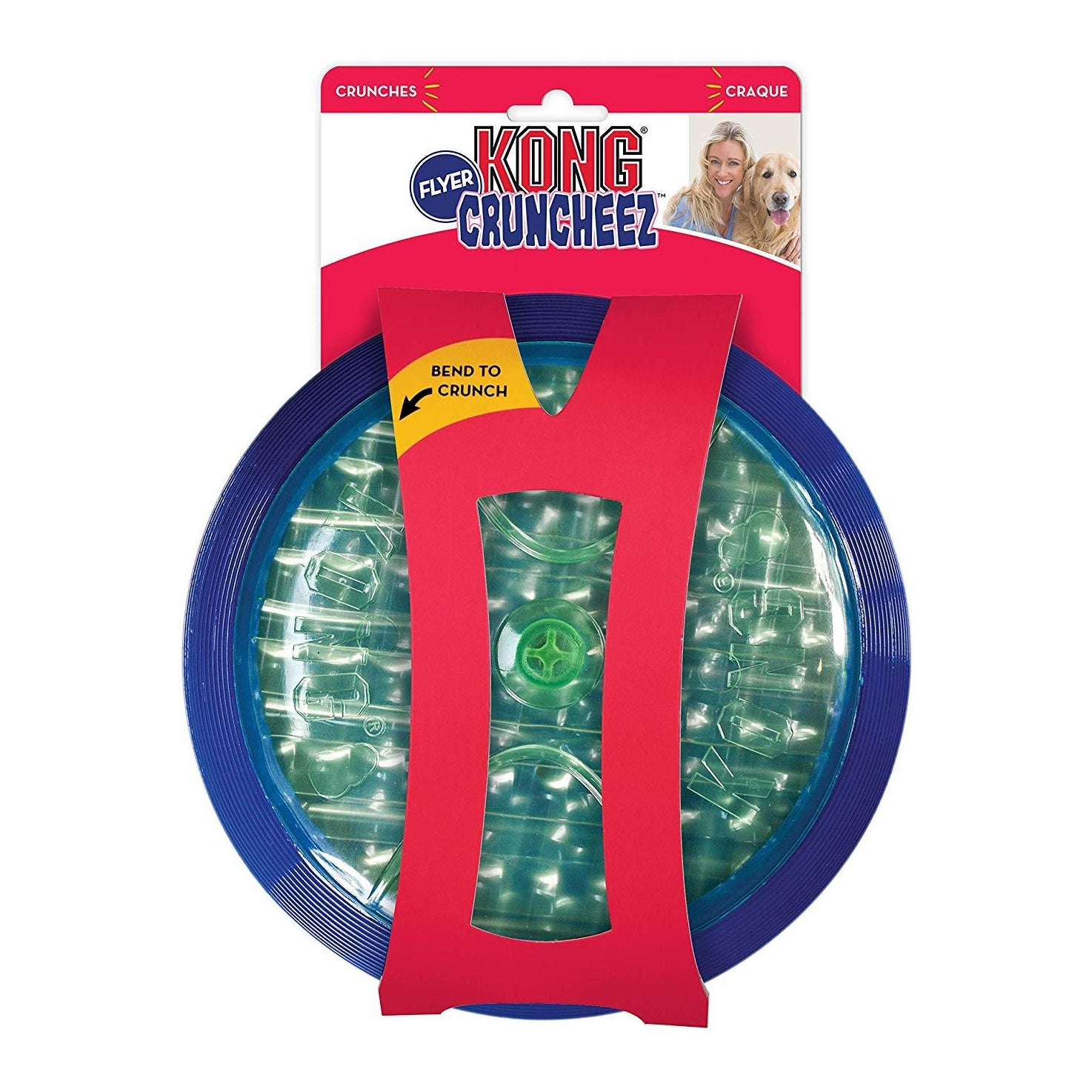 Kong Cruncheez Flyer Dog Toy - pet-club-india