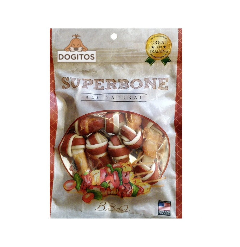 Dogitos Knotted Chicken Superbone with BBQ 7 in 1 Dog Treat (185 gm)