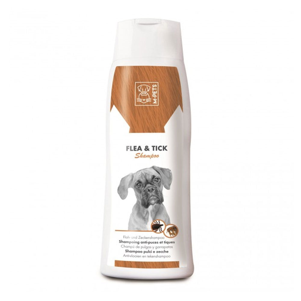 M-Pets Flea & Tick Dog Shampoo 250 ml - pet-club-india