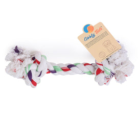 Goofy Tails 2 Knot Non-Toxic Cotton Rope Chew Dog Toy - pet-club-india