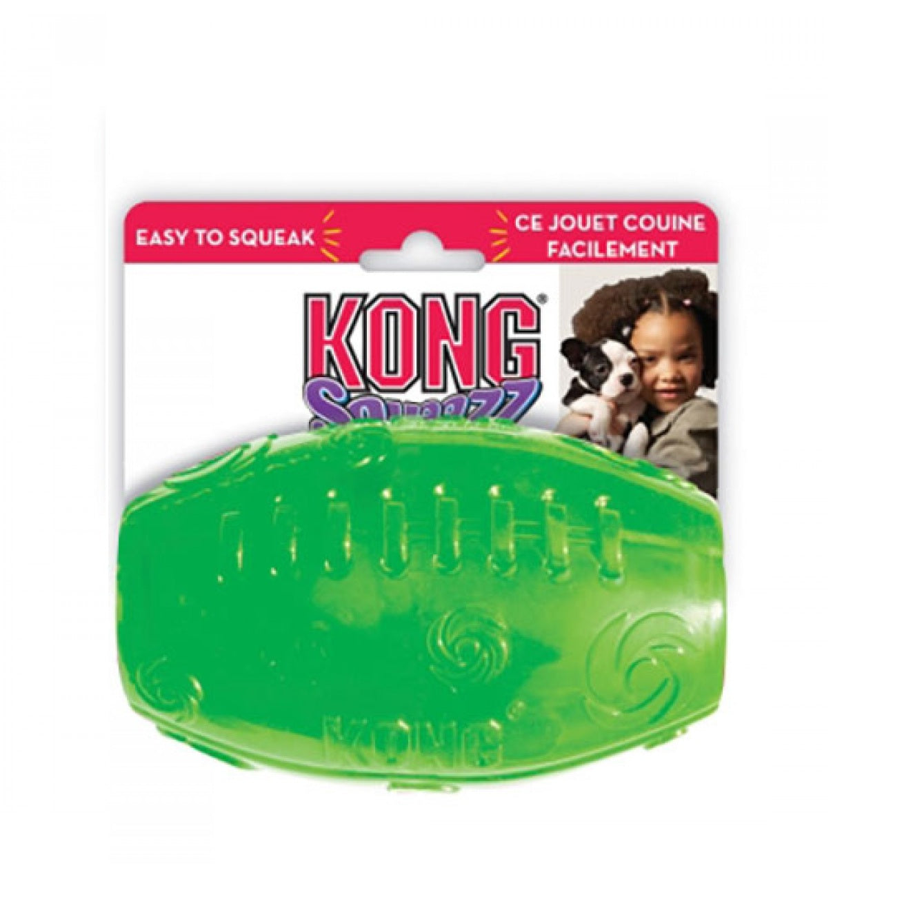 Kong Squeezz Football Chew Dog Toys - pet-club-india