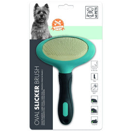 M-Pets Oval Slicker Brush for Dogs - pet-club-india