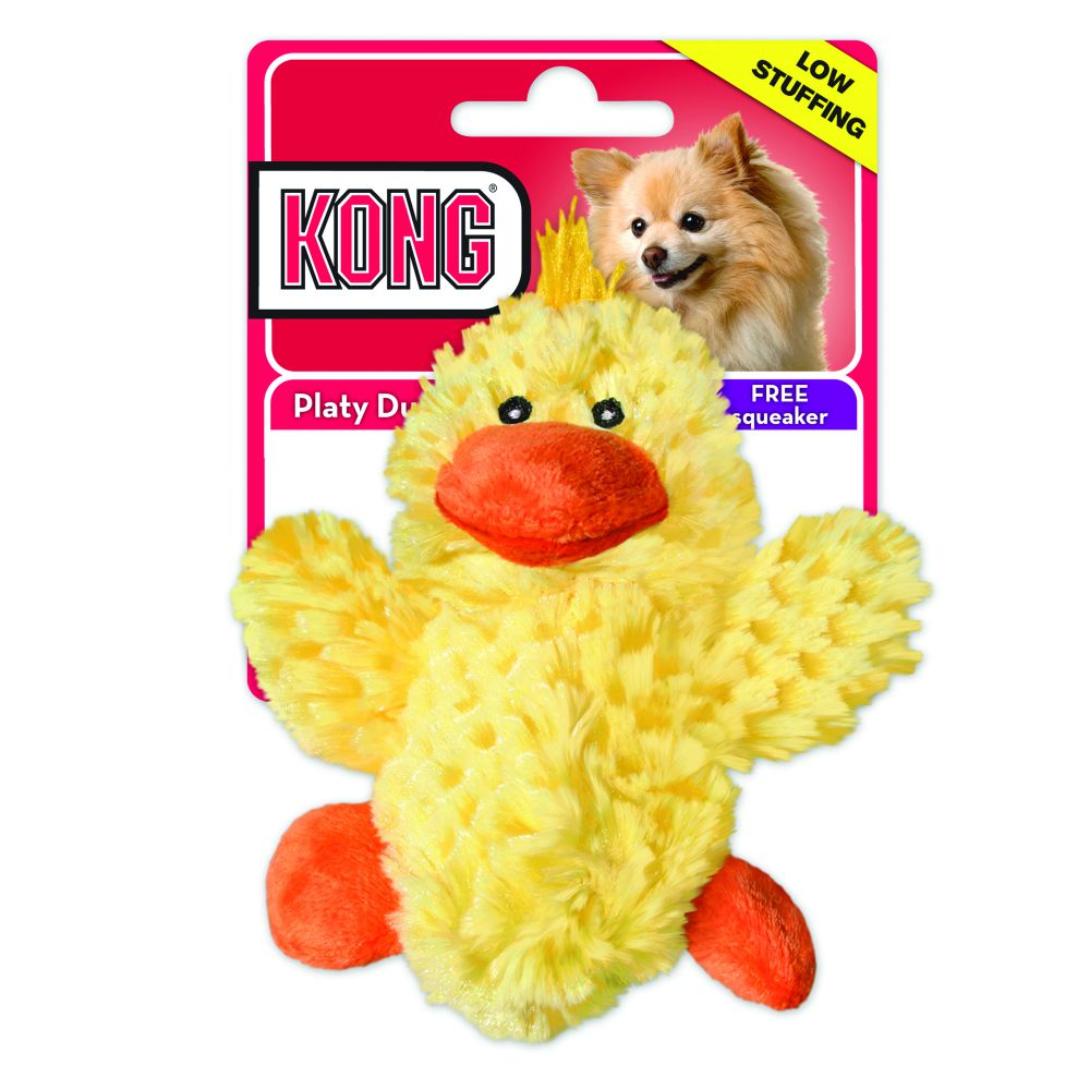 Kong Small Duck Squeaky Dog Toy - pet-club-india