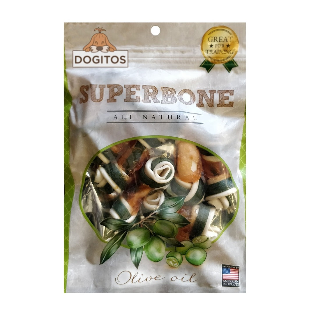 Dogitos Knotted Chicken Superbone with Olive Oil 7 in 1 Dog Treat (185 gm)
