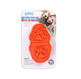 Pawise Dog Grooming Rubber Brush ( Color May Vary ) - pet-club-india