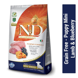 Farmina N&D Grain Free Lamb & Blueberry Puppy Mini Dog Food - pet-club-india