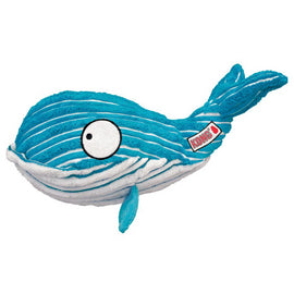 Kong Cuteseas Blue Whale Medium Squeaky Dog Toy - pet-club-india