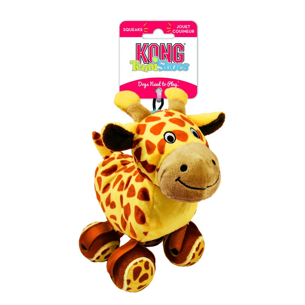 Kong TenniShoes Giraffe Squeaky Small Dog Toy - pet-club-india