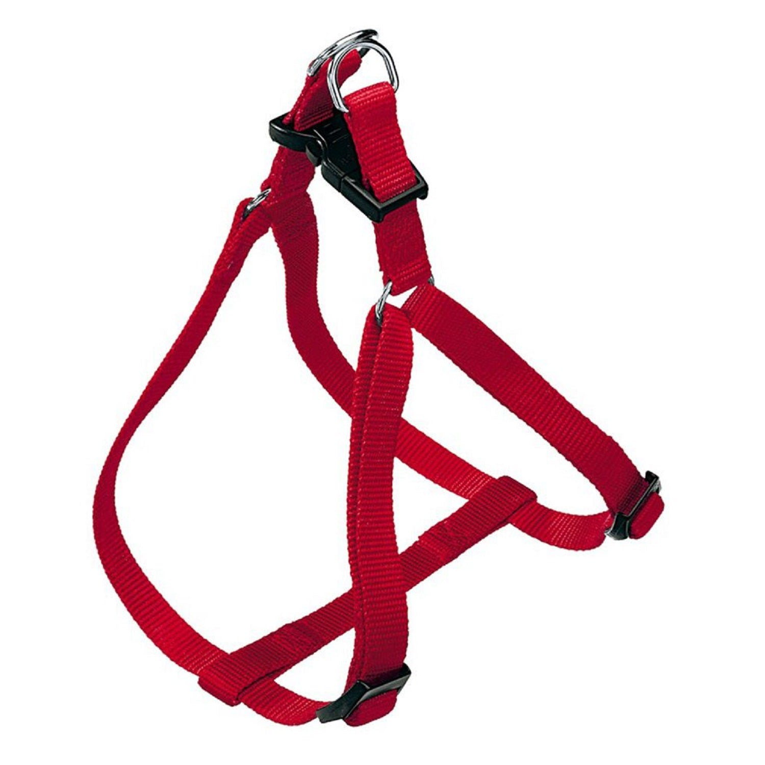 Super Dog Red Colored Nylon Adjustable Dog Harness - pet-club-india