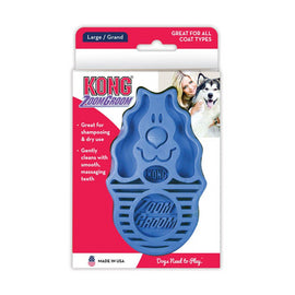 Kong ZoomGroom Dog Grooming/Massage Multi-Use Brush - pet-club-india