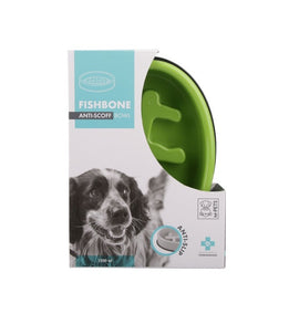 M-Pets Wishbone Anti Scoff/Anti Slip Oval Dog Food Bowl (1200 ml) - pet-club-india