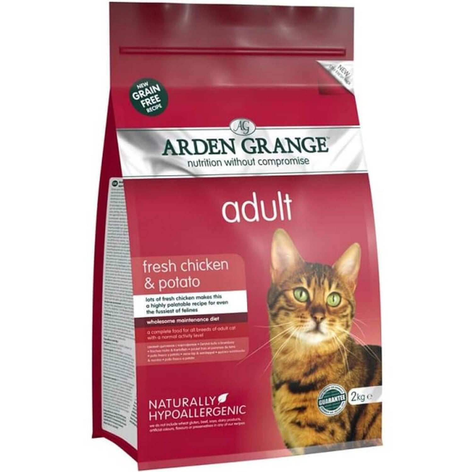 Arden Grange fresh Chicken & Potato Adult Cat Food - pet-club-india