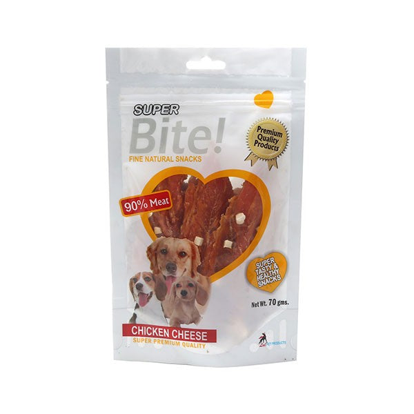 Super Bite Chicken Cheese Dog Treat 70 gm - pet-club-india