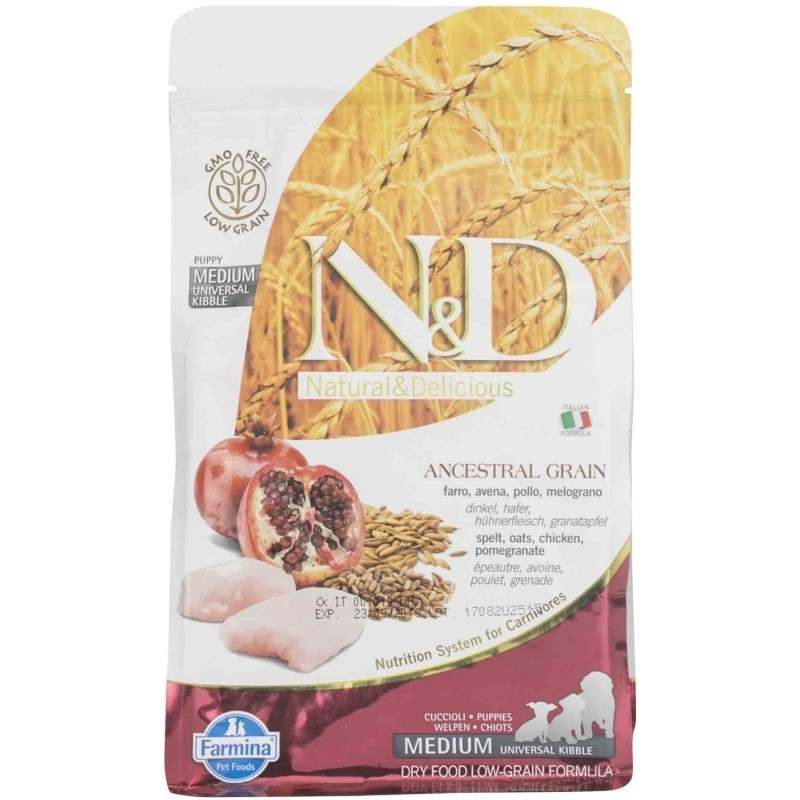 Farmina N&D Low Grain Chicken and Pomegranate Puppy Medium & Maxi Dog Food - pet-club-india