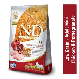 Farmina N&D Low Grain Chicken & Pomegranate Adult Mini Dog Food - pet-club-india