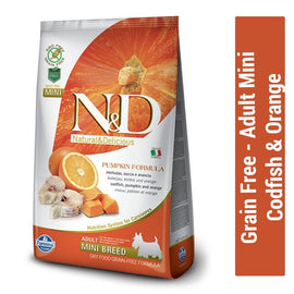 Farmina N&D Grain Free Codfish & Orange Adult Mini Dog Food - pet-club-india