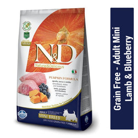 Farmina N&D Grain Free Lamb & Blueberry Adult Mini Dog Food - pet-club-india
