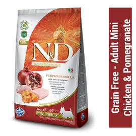 Farmina N&D Grain Free Chicken & Pomegranate Adult Mini Dog Food - pet-club-india