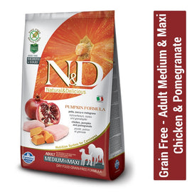 Farmina N&D Grain Free Chicken & Pomegranate Adult Medium & Maxi Dog Food - pet-club-india