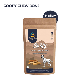 Goofy Tails Himalayan Yak Milk Bar Dog Chew Treat Medium, 150 gm - pet-club-india