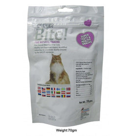 Super Bite Chicken Bites for Cats Treat 70 gm - pet-club-india