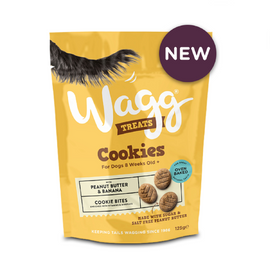 Wagg Peanut Butter & Banana Cookies Dog Treats 125 g - pet-club-india
