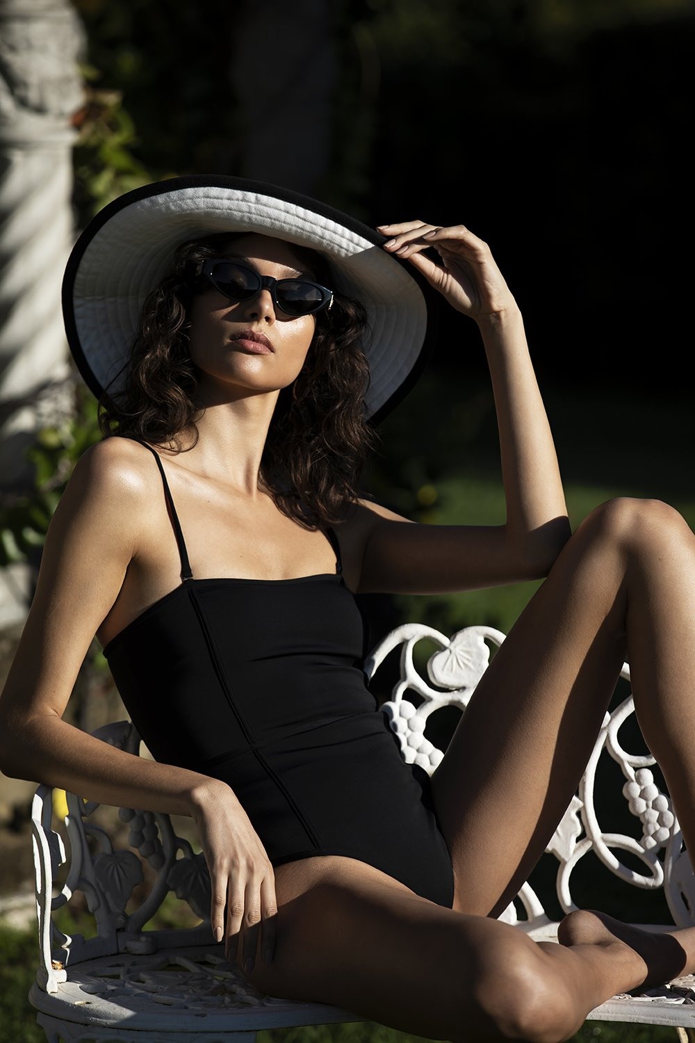 SIR the label HENDRY PANELLED ONE PIECE BLACK