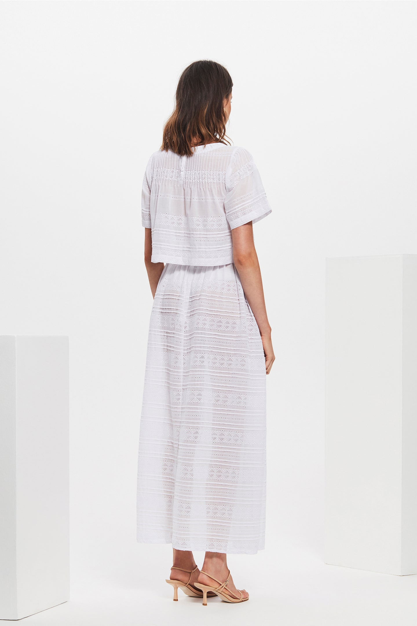 SIR the label ELKE PLEATED MAXI SKIRT WHITE