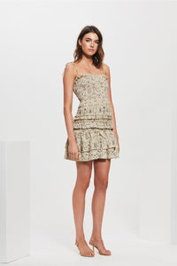 SACHI RUCHED MINI DRESS