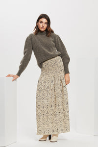 SACHI RUCHED MAXI SKIRT